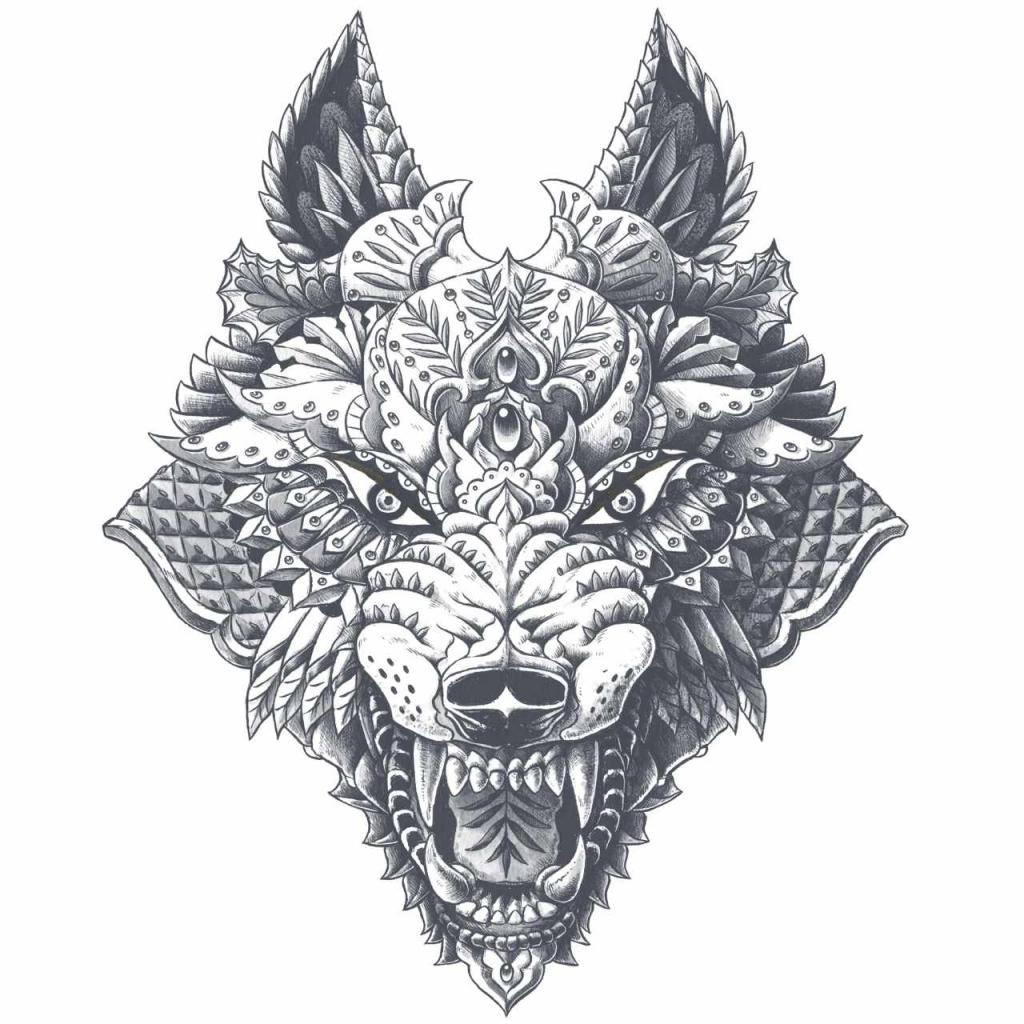 Lone wolf Kleurplaat