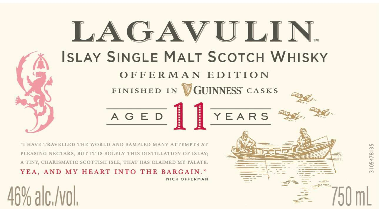 Lagavulin Offerman Edition Guinness Cask Finished Label